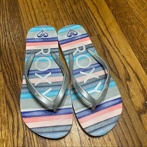 Roxy flip flops sandals size 6